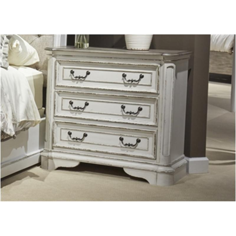 Drawer Bedside Chest 244 Br64 Liberty Furniture Magnolia Manor Bedroom Nightstand