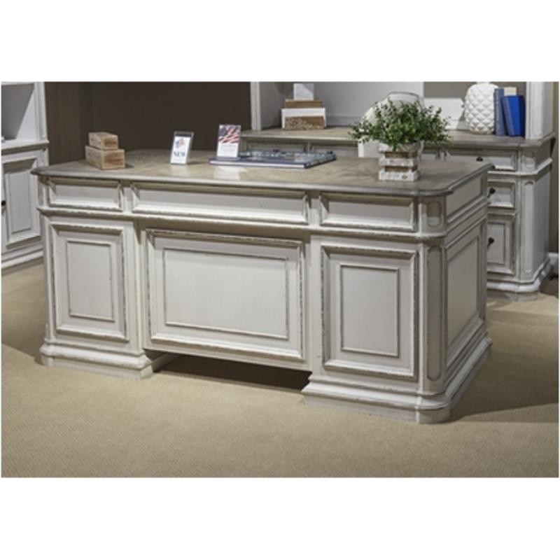 244 Ho105t Liberty Furniture Magnolia Manor Jr Executive Desk
