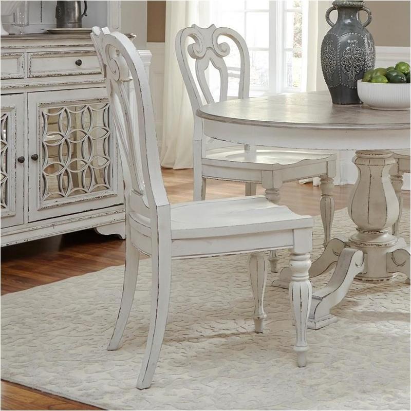 244 C2500s Liberty Furniture Magnolia Manor Splat Back Side Chair