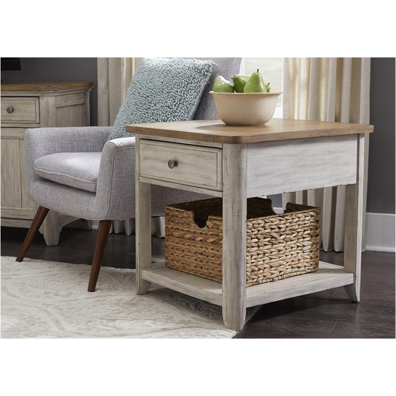 652-ot1020 Liberty Furniture Farmhouse Reimagined End Table With Basket