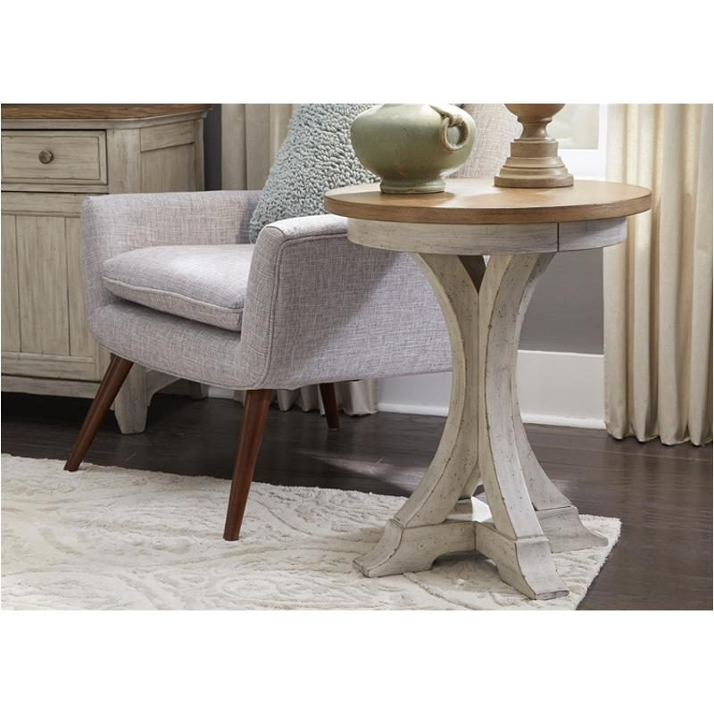 652-ot1021 Liberty Furniture Farmhouse Reimagined Round Chair Side Table