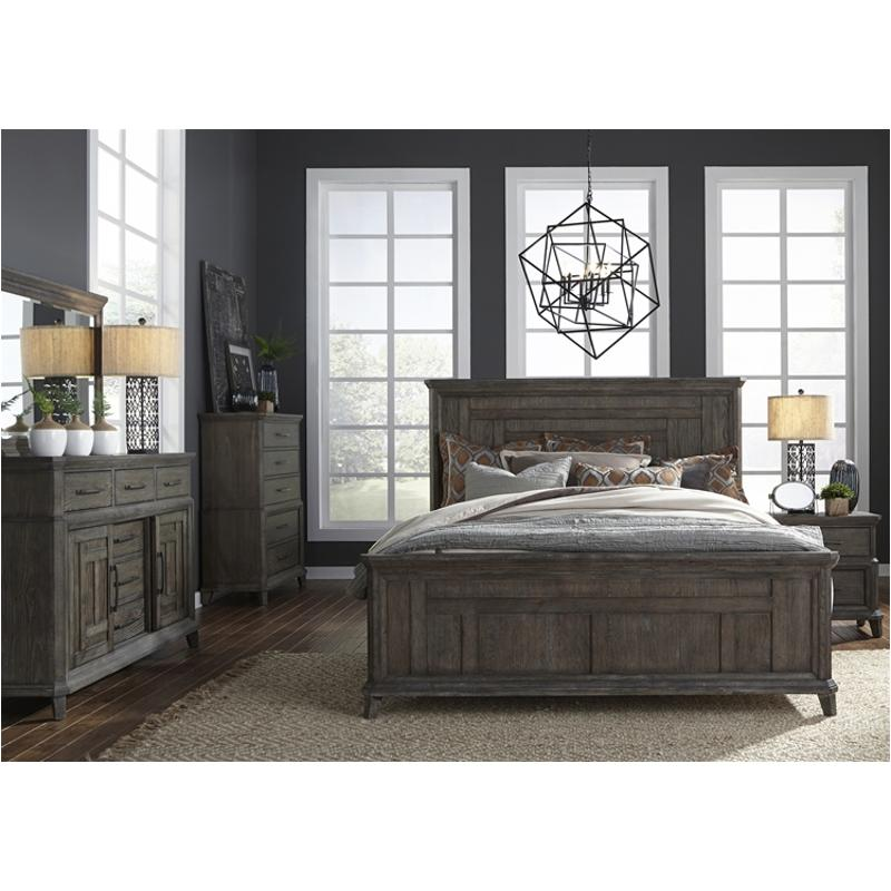 823 Br13 Liberty Furniture Artisan Prairie Queen Panel Bed
