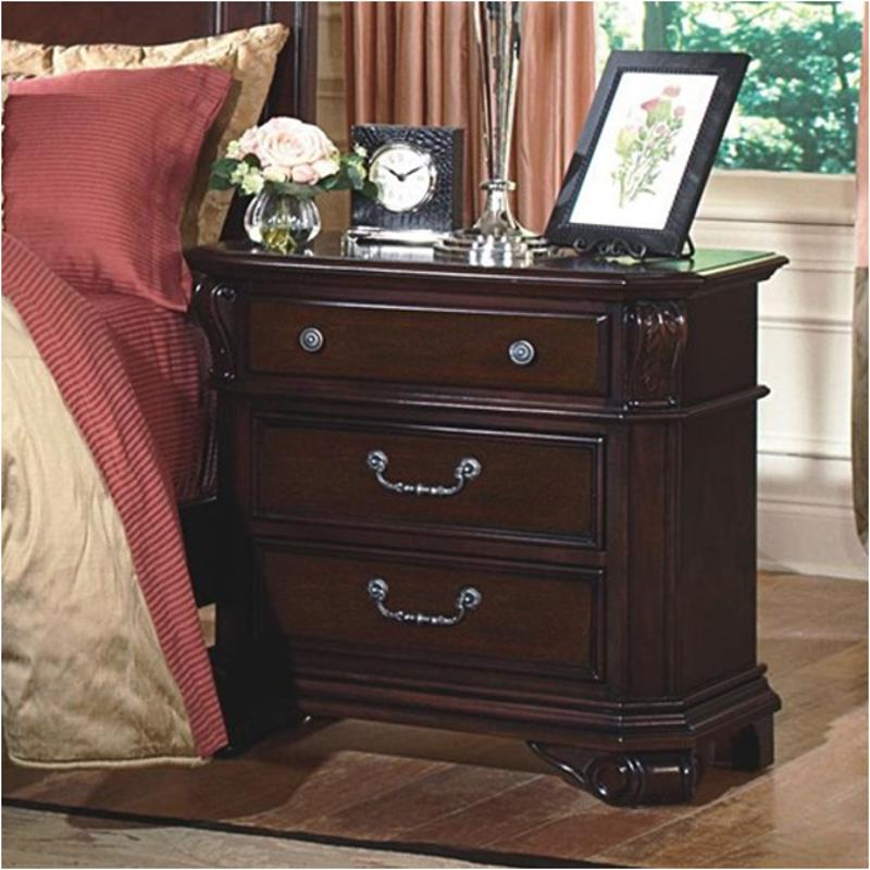 Emilie Bedroom Collection: 1841-040 New Classic Furniture Emilie 3 Drawer Night Stand