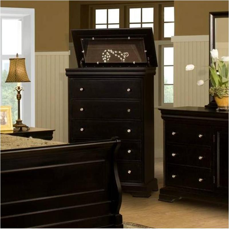 00-013-070 New Classic Furniture Belle Rose Bedroom Chest & 00-013-070 New Classic Furniture 5 Drawer Lift Top Chest