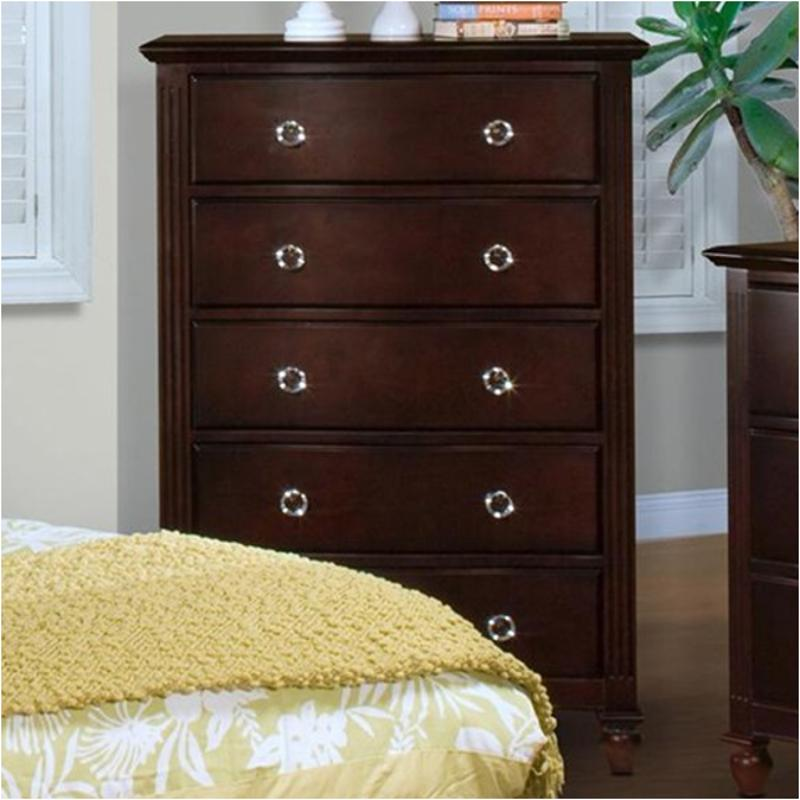 00 623 070 New Clic Furniture Victoria Espresso Bedroom Chest