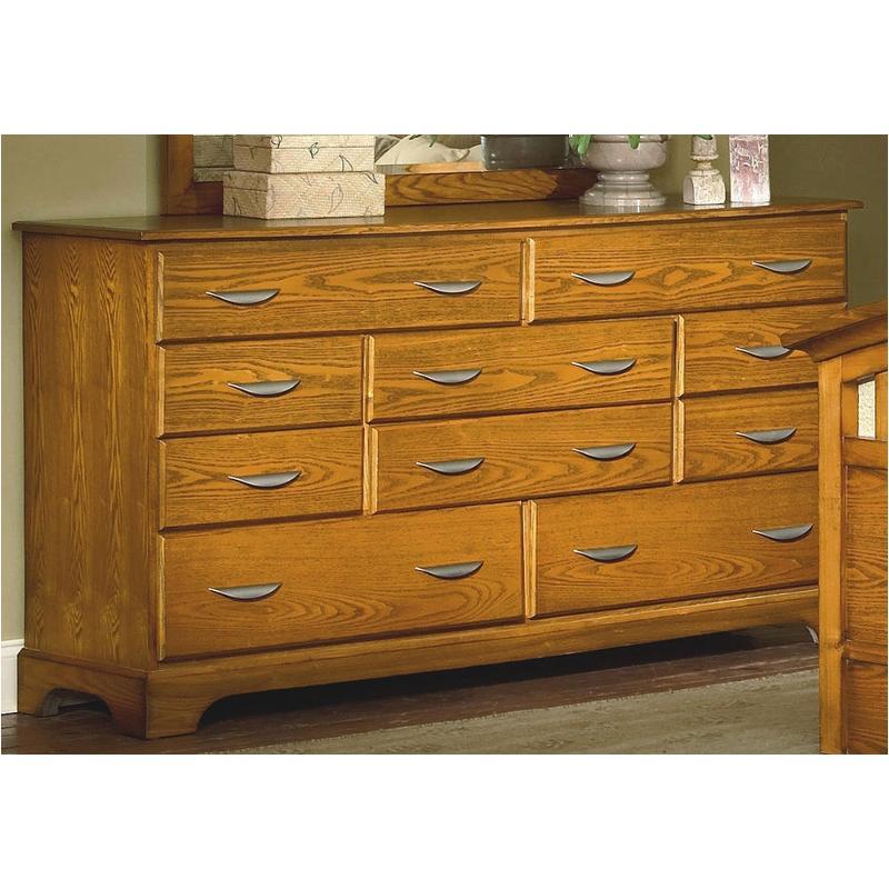 1517 050 New Classic Furniture 10 Drawer Dresser Honey