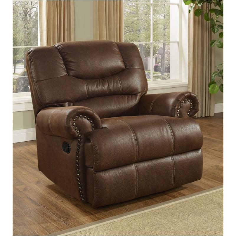 Laredo Brown Leather Dining Chair: 20-395-13-moc New Classic Furniture Laredo Recliner