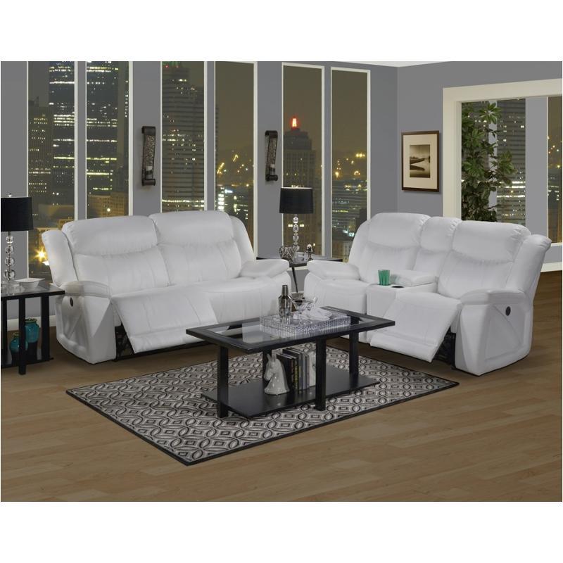 20 324 30 Mwh New Classic Furniture Soho Dual Recliner Sofa   Mesa White