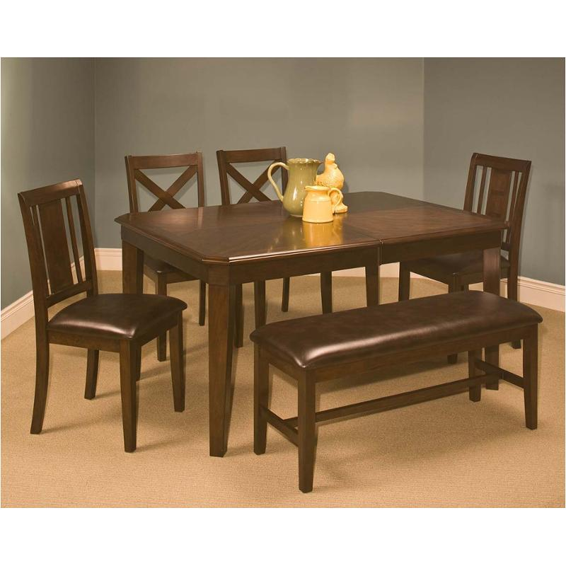 40-150-11-c New Classic Furniture Latitudes Cut Corner Dining Table -  Chestnut