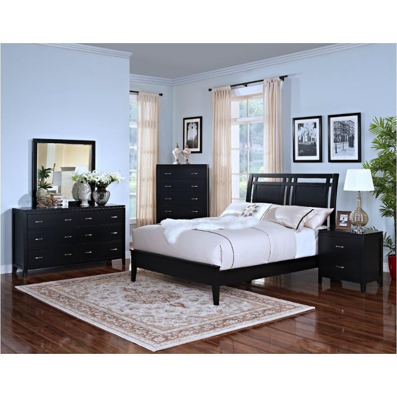 00-144-315-b New Classic Furniture Selena - Black Queen Bed - Black