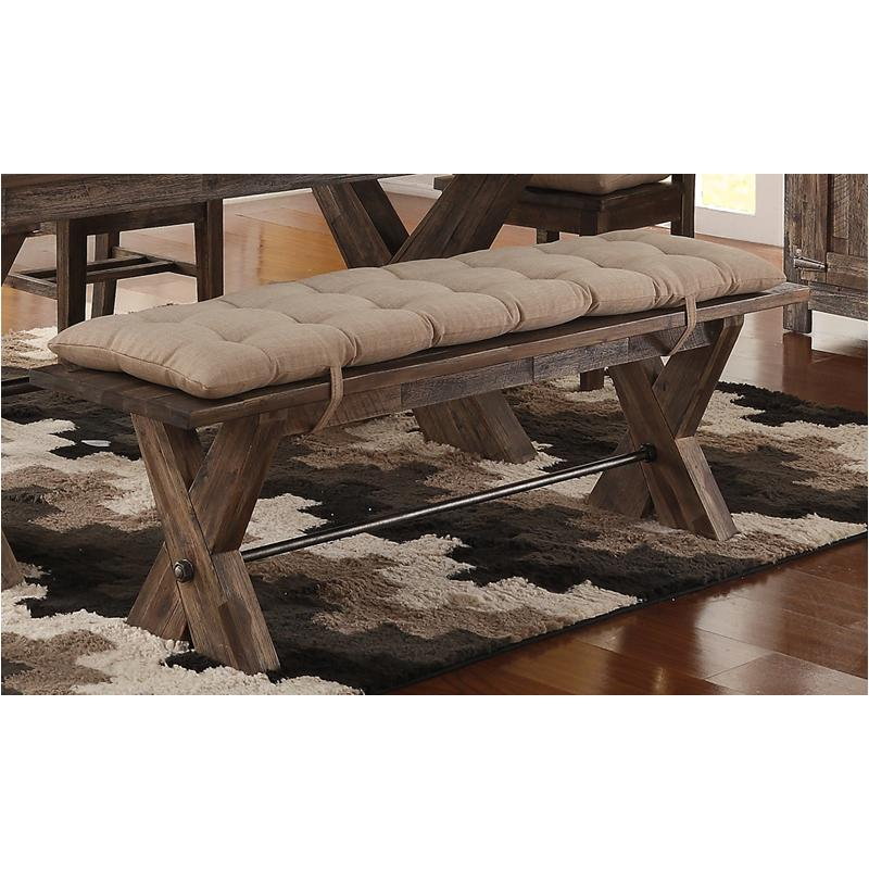 D7404 25c New Classic Furniture Tuscany Park Bench With Cushion
