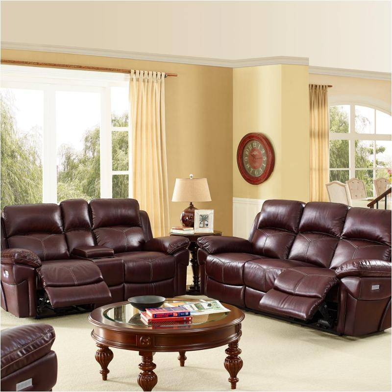 22 2226 25ph Win New Classic Furniture Warner Full Power Console Loveseat  W/pwr Hdrst
