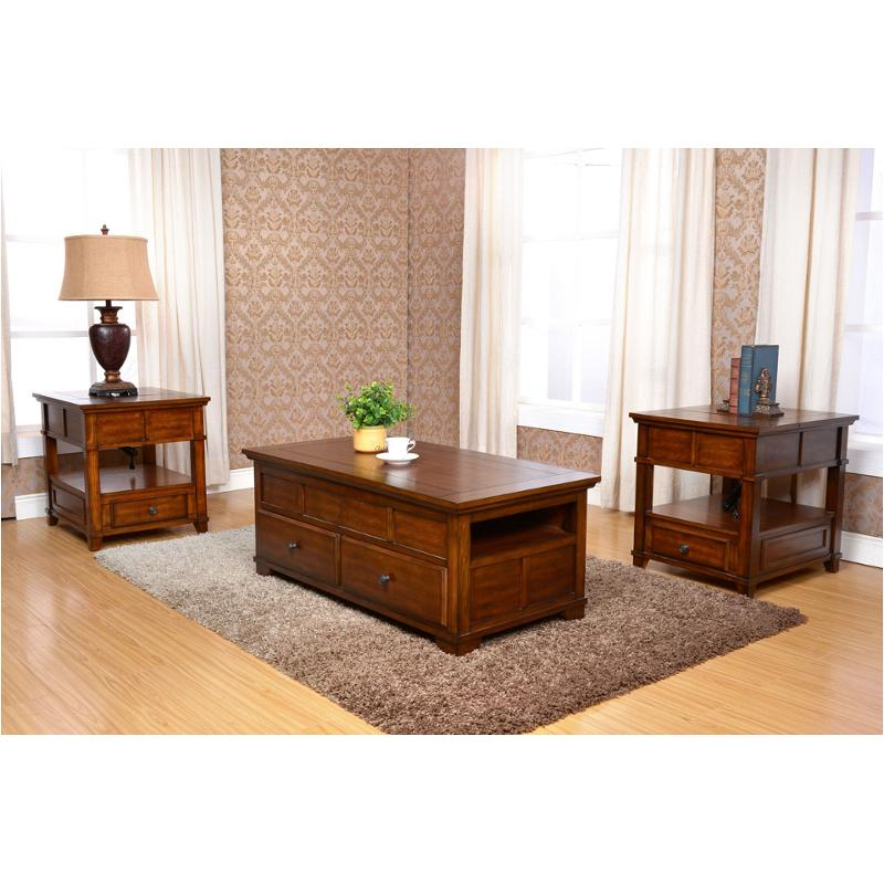 T9905 20 New Clic Furniture Lynch Cherry Living Room End Table