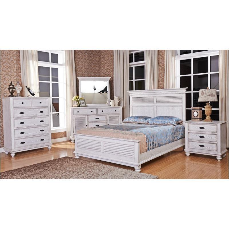 00 220 050 Wht New Classic Furniture Lakeport Driftwood Dresser