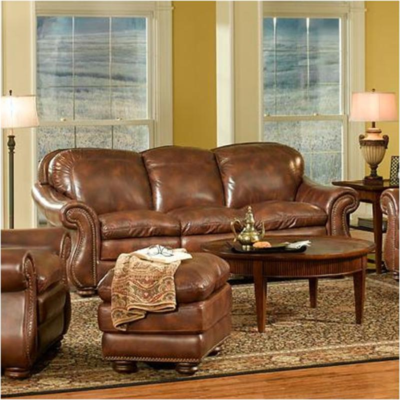 S9913-032941 Leather Italia Presidential Stationary Duplin Sofa