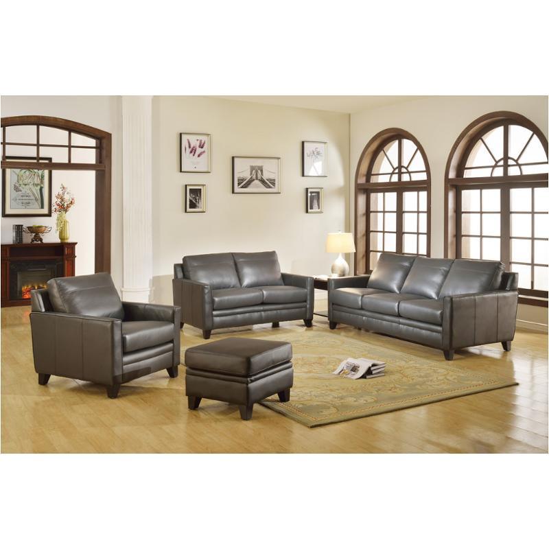 6287b-031128a Leather Italia Cambria Fletcher Sofa