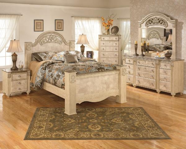 Shop Ashley Furniture Bolanburg Louvered Bedroom Set In White B647