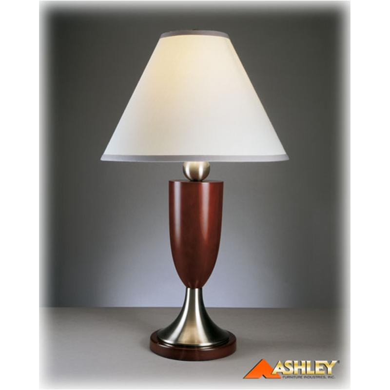 L410284 Deven Ashley Furniture Table Lamp Cherrywood Nickel