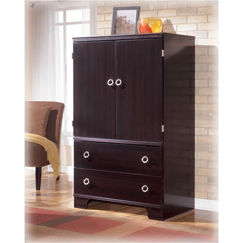 B403-49 Ashley Furniture Pinella Bedroom Armoire Merlot
