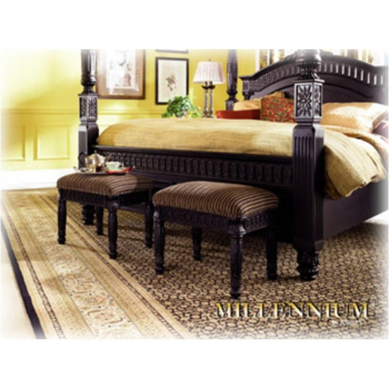 B651 09 Ashley Furniture Britannia Rose Bench Black Finish