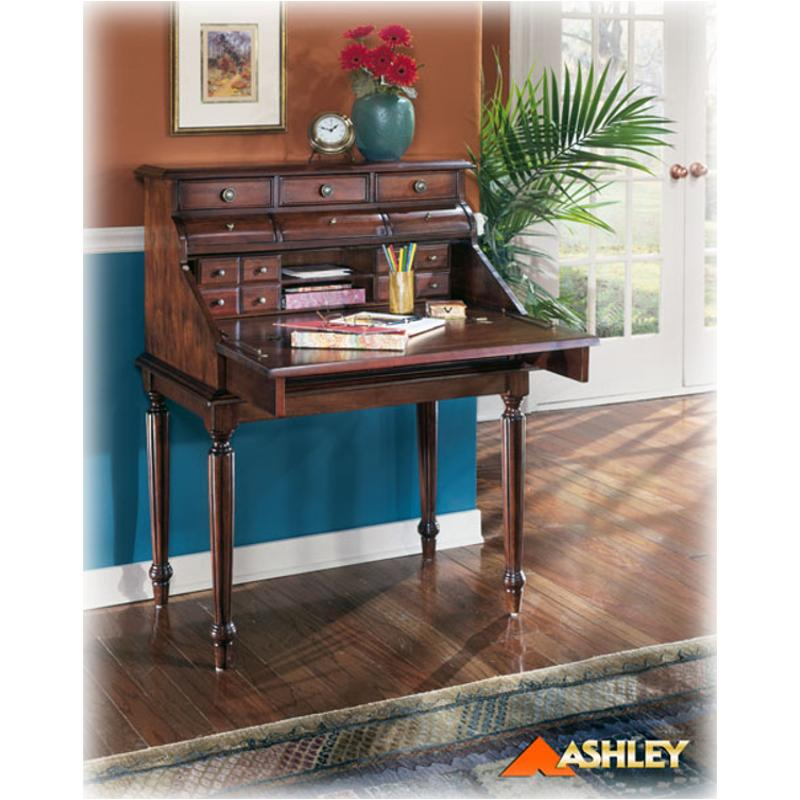 H25719 Ashley Furniture Secretary Mahogany Stain Finish. Desk Stands. Woodworking Table Plans. 12 In Drawer Slides. Dhts Help Desk