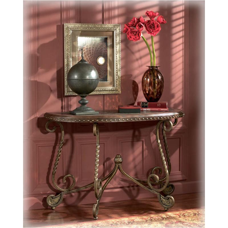 T382 4 Ashley Furniture Rafferty Dark Brown Sofa Table
