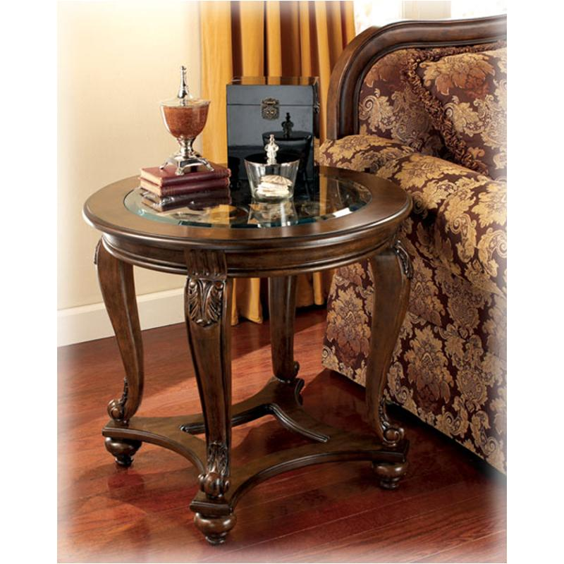 T499 6 Ashley Furniture Norcastle   Dark Brown Living Room End Table
