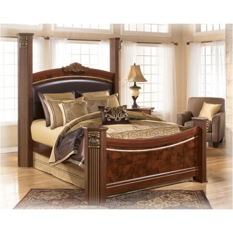 B406 99 Ashley Furniture Gilded Court Bedroom King Poster