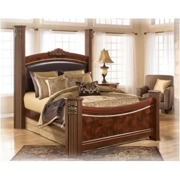 King Bedroom Sets Ashley Furniture b406-99 ashley furniture gilded court bedroom king poster rails