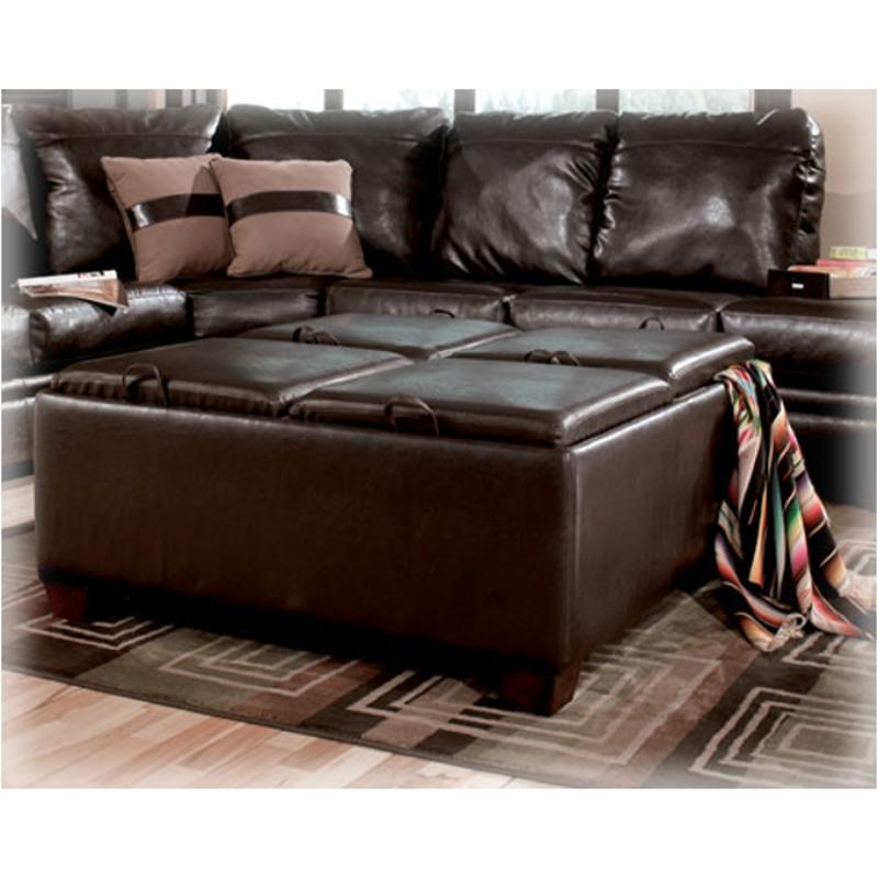 Merveilleux 7190311 Ashley Furniture Durahide Bicast   Brown Living Room Ottoman