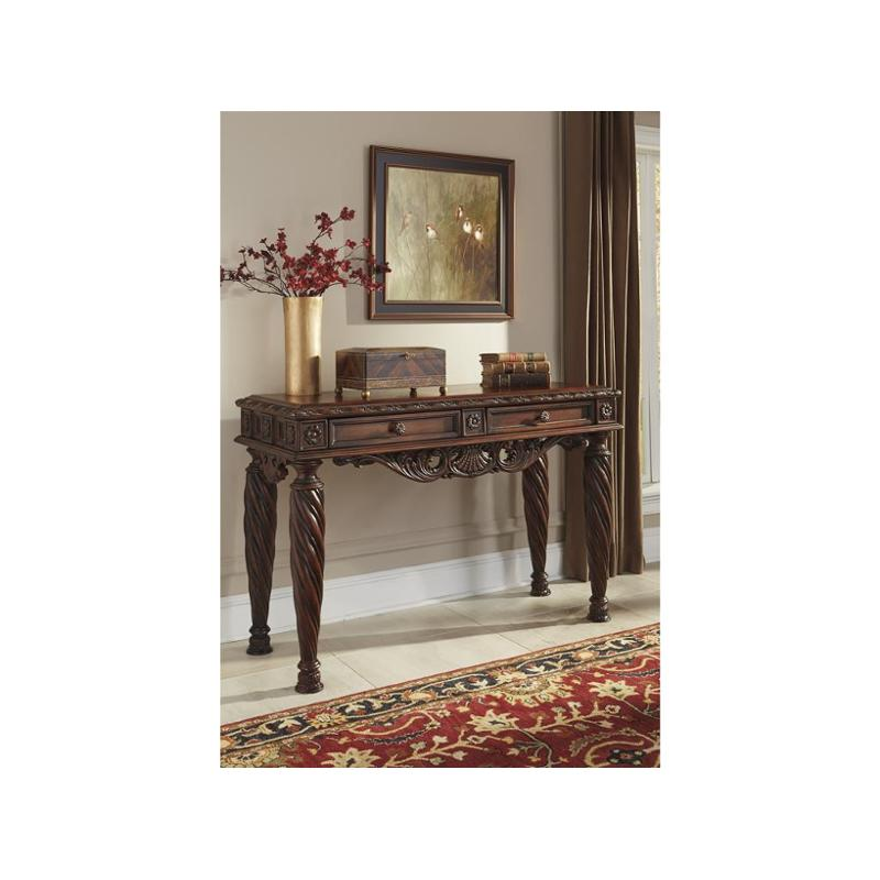 T963 4 Ashley Furniture North Shore Dark Brown Sofa Table