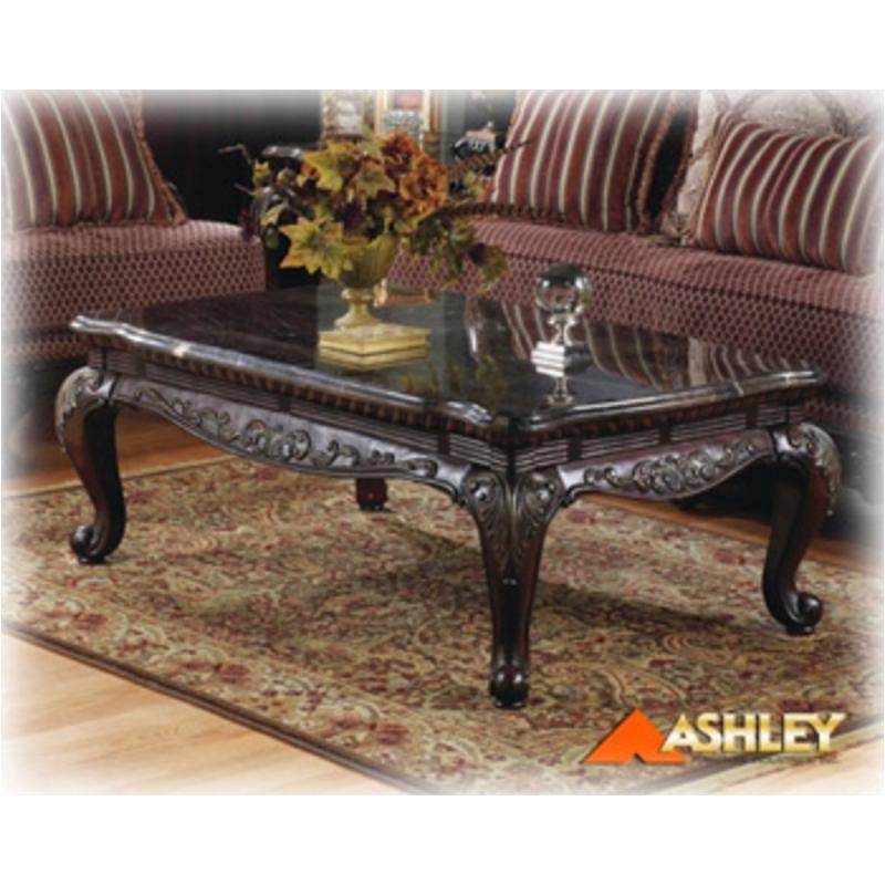 T591-1 Ashley Furniture Avelon Rect Cocktail Dk Brn Fnsh/mrbl
