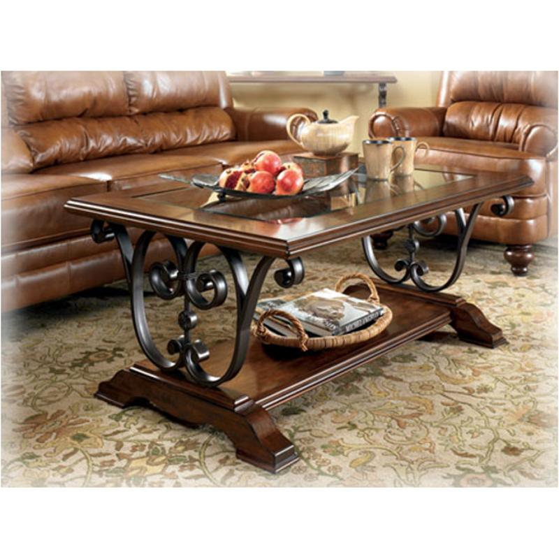 T729 1 Ashley Furniture Welton Living Room Cocktail Table