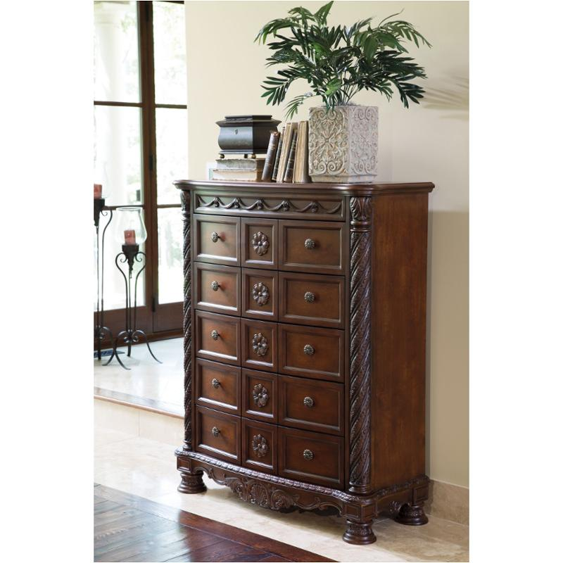 B553 46 Ashley Furniture North Shore Dark Brown Bedroom Chest