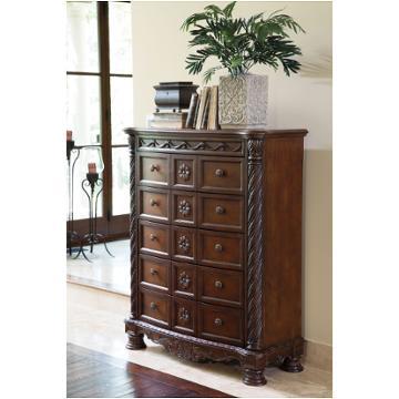 B553 46 Ashley Furniture North Shore Dark Brown Bedroom Chest