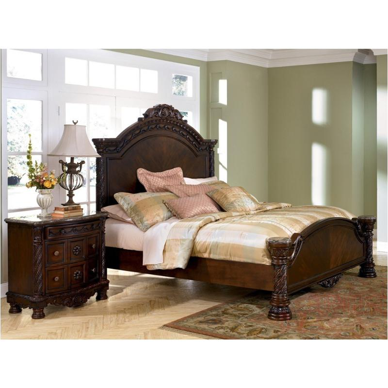 B Ashley Furniture North Shore Dark Brown King Panel Bed - Ashley furniture northshore bedroom set