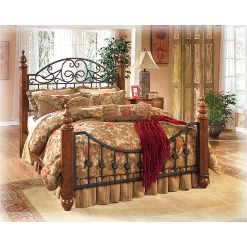 B429 151 Ashley Furniture Kingcal King Headboardfootboard Posts