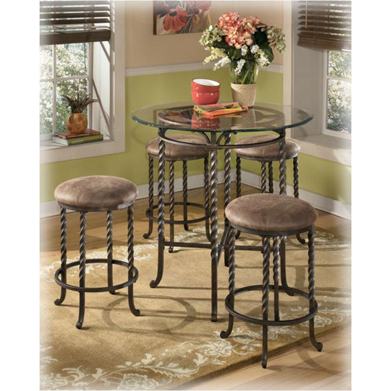 D382 223 Ashley Furniture Pub Table Base4 24 Inch Bar Stools