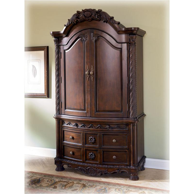 B553 49t Ashley Furniture North Shore Dark Brown Armoire