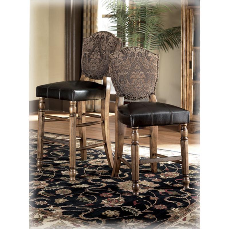 D534 124 Ashley Furniture Leather 24 Inch Pub Chair Rta 2 Ctn