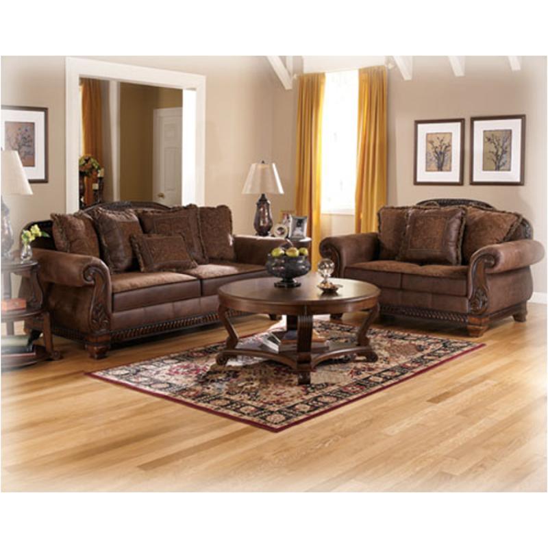 1540035 Ashley Furniture Bradington Truffle Living Room Loveseat
