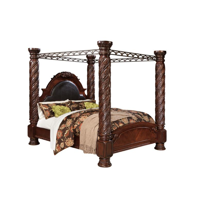 B553-172 Ashley Furniture North Shore - Dark Brown Bedroom Bed  sc 1 st  Home Living Furniture & B553-172 Ashley Furniture King Poster Bed With Canopy