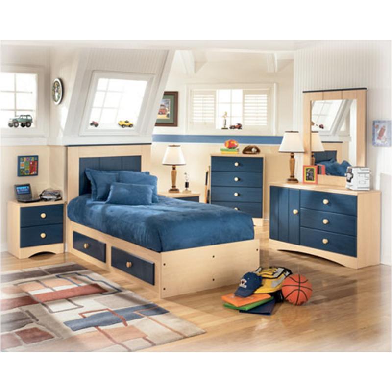 b121-50 ashley furniture blueberry pie captains bed w/ storage