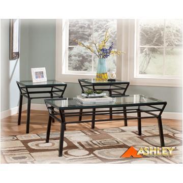 T271 13 Ashley Furniture Bonello 3in1 Pk Almst Black Metal Glass