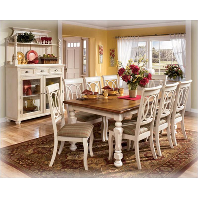 D Ashley Furniture Alison Hall Rectangular Ext Dining Table - Ashley furniture hall table