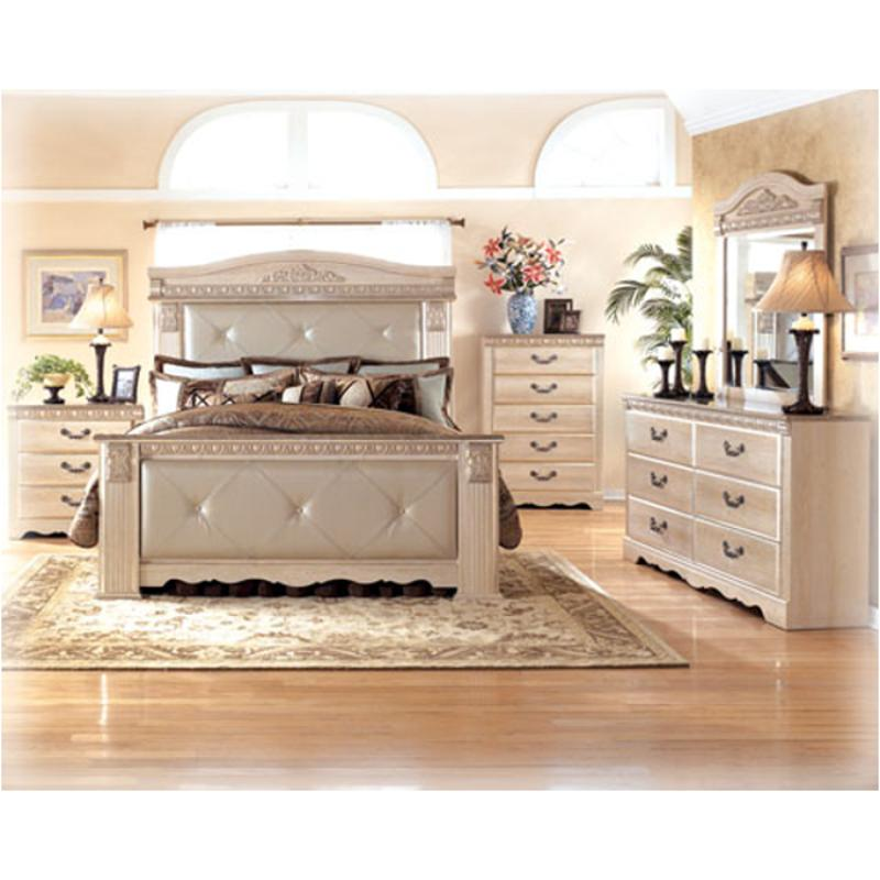 b174 58 ashley furniture silverglade king upholstered mansion bed. Black Bedroom Furniture Sets. Home Design Ideas