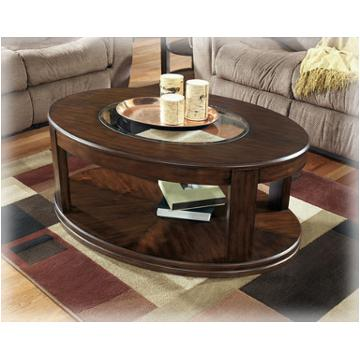 T540-0 Ashley Furniture Sanders Living Room Oval Cocktail Table