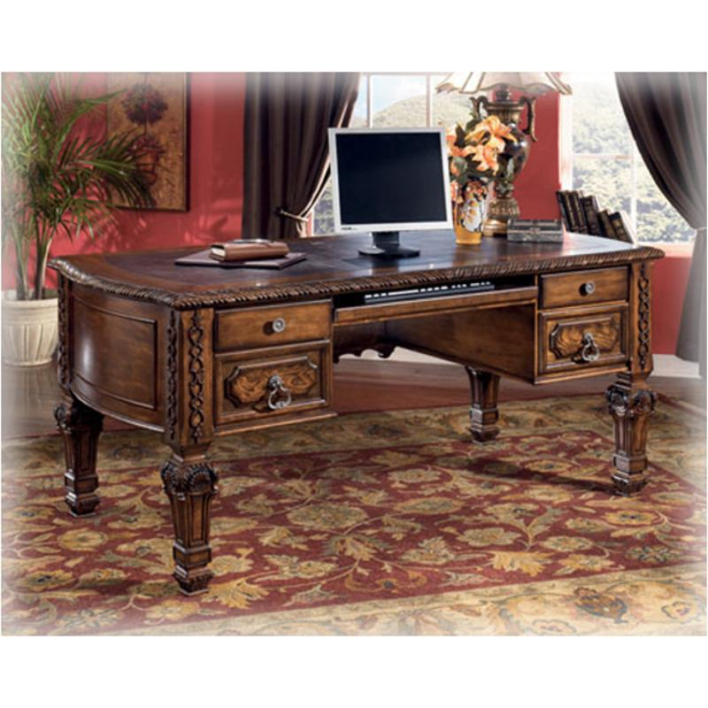 h543 27 ashley furniture casa mollino home office leg desk