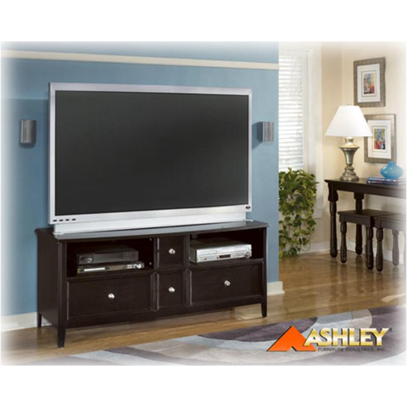 W371 21 Ashley Furniture 60in Tv Stand Almost Black Finish