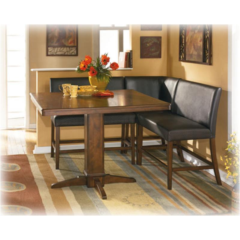 Db Ashley Furniture Cntrht Pedestal Base Brown Finish - Ashley woodboro coffee table
